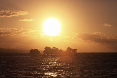lake sunset: Lake Shinji sunset