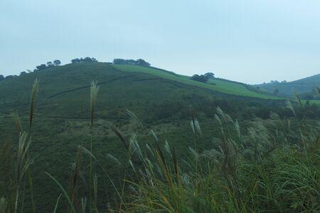 From the Akiyoshi plateau mountains Stock Photo