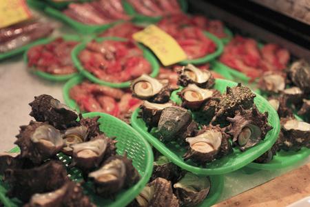 fishery products: SazaeSan Stock Photo