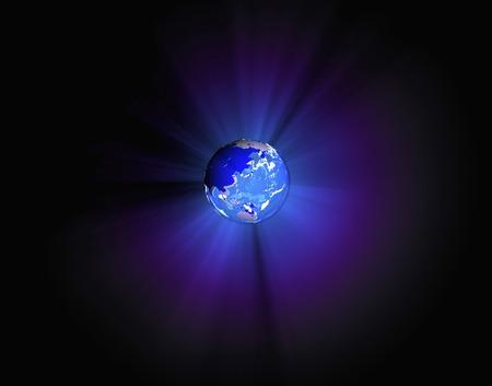 bioluminescent: Earth light