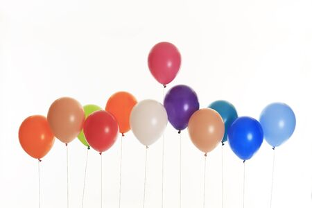 lined: Balloons lined Stock Photo