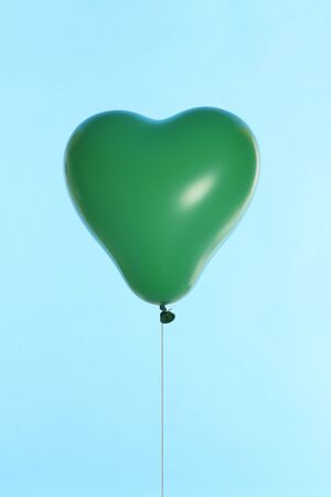 levitate: Green Heart of balloons