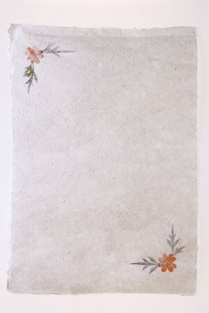 watermarks: Flowers containing Japanese paper Stock Photo