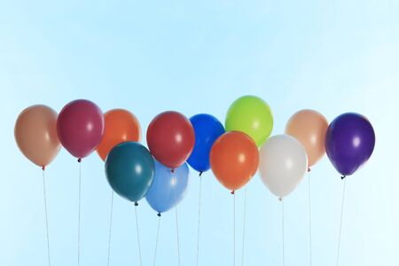 in lined: Balloons lined Stock Photo