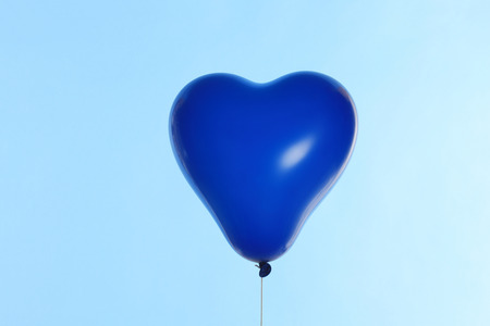 levitate: Blue Heart of balloons Stock Photo