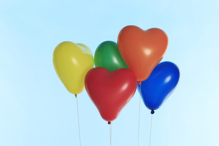 a lot: A lot of heart balloons