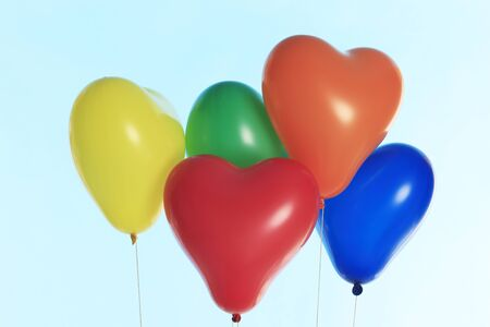levitate: A lot of heart balloons