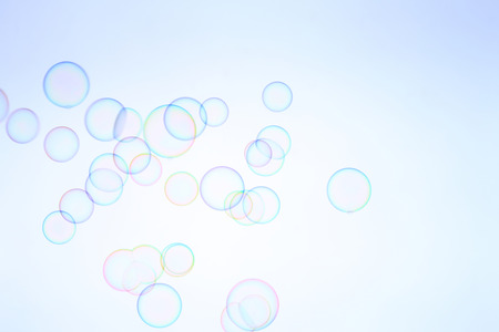 stainless background: SOAP bubbles Stock Photo