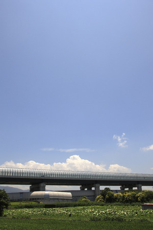 highspeed: Blue sky and a high-speed road