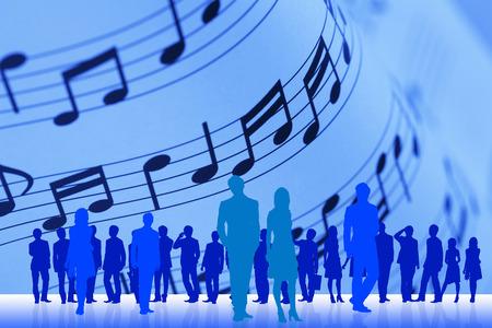 comrade: Music and crowd Stock Photo