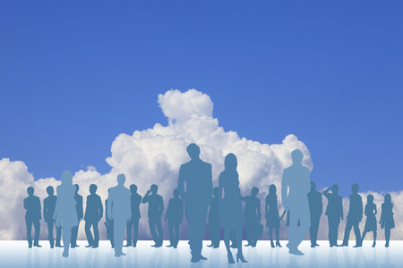 comrade: Blue sky and the crowd
