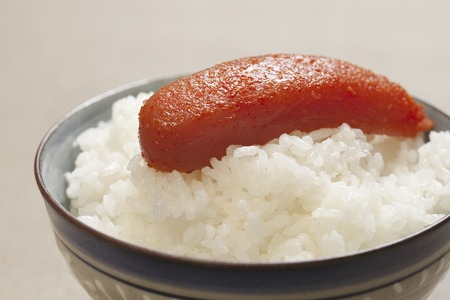 walleye: Mentaiko rice Stock Photo