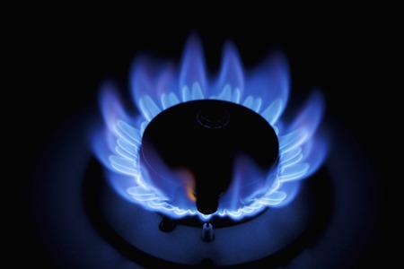 blue top: Blue gas flame