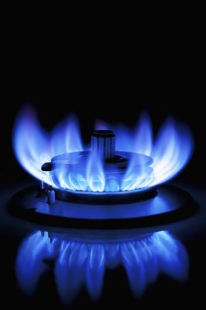 青いガスの炎