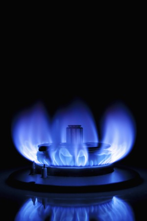 safety device: Blue gas flame