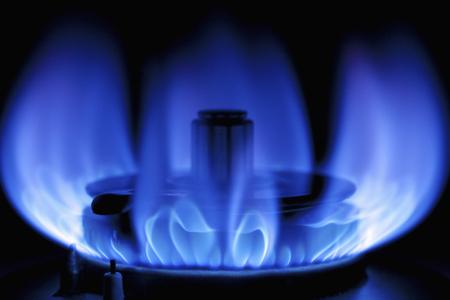 blue glass: Blue gas flame