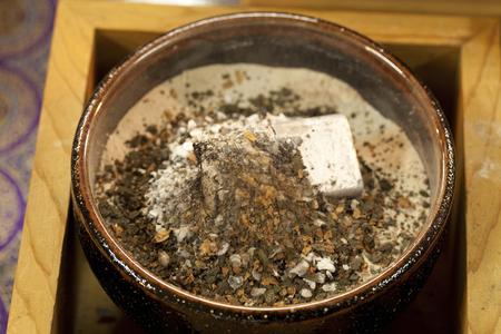 Incense: Burning incense of funeral