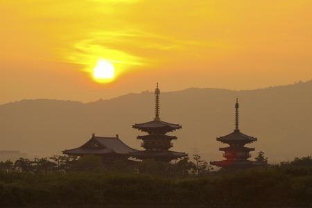 prefecture: Nara Prefecture Yakushiji sunrise