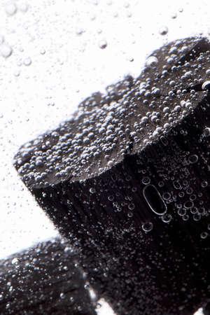 purification: Water purification using charcoal Stock Photo