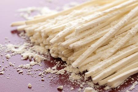 うどん麺のヒット 写真素材