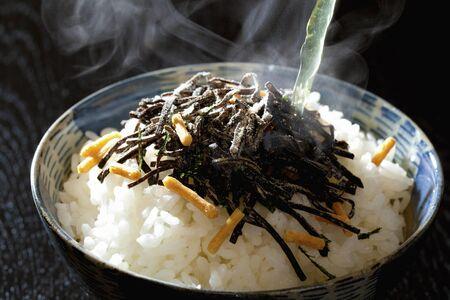 alga marina: arroz de algas marinas con té verde