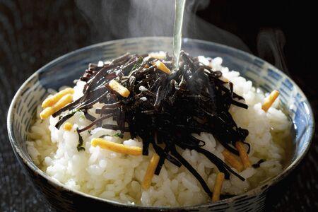 alga marina: arroz de algas marinas con t� verde