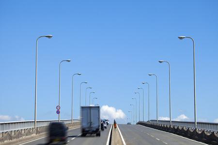 nishinomiya: Car across the viaduct