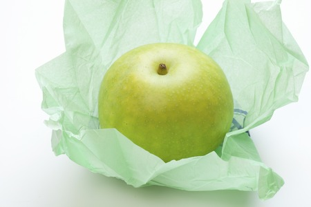 packing material: twentieth century pear Stock Photo