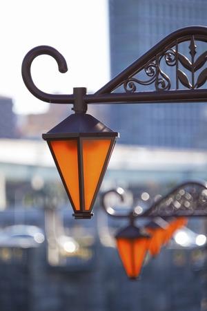 streetlight: Osaka Nakanoshima streetlight Stock Photo