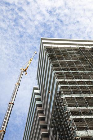 site: Apartment building site Stock Photo