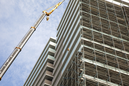 construction companies: Apartment building site Stock Photo