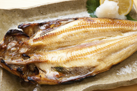 dried food: Grilled fish hockey