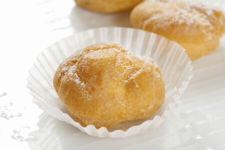 petit: Petit cream puff Stock Photo