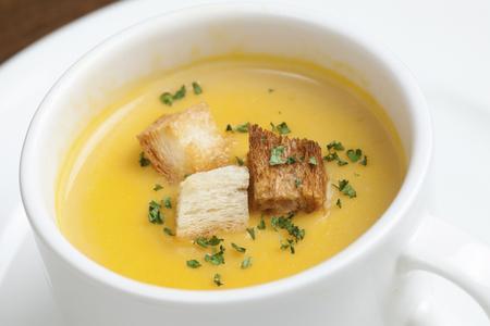 crouton: Corn potage soup