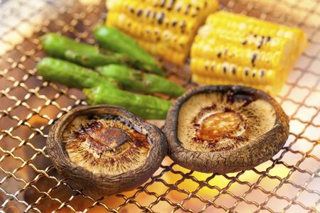 Grilled shiitake mushrooms