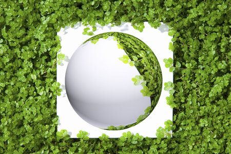 cg: Sphere of the CG to sprout background Stock Photo