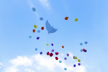 Balloons soar at a wedding