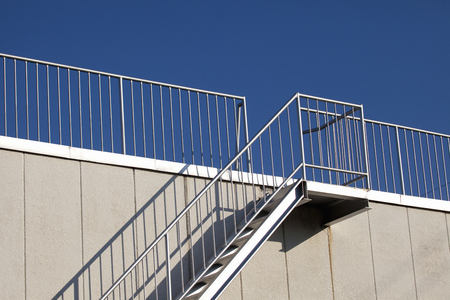 Stairs leading to the roof Imagens