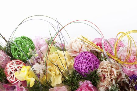 new years day: New years day decoration flowers Stock Photo