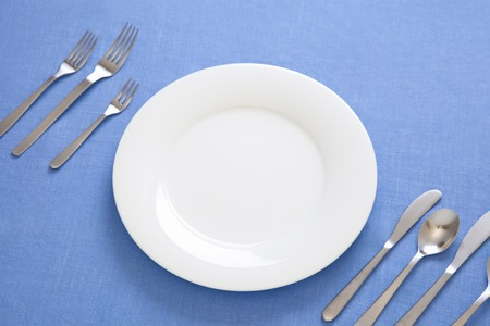 manners: Western tableware of table manners Stock Photo