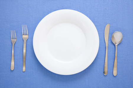 Western tableware of table manners Stock Photo