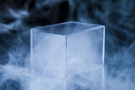 plastic container: Plastic container and smoke