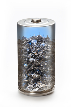 scrap iron: Eco battery and recycling of environment image