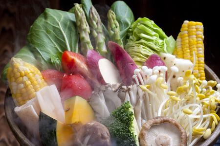 野菜蒸し 写真素材