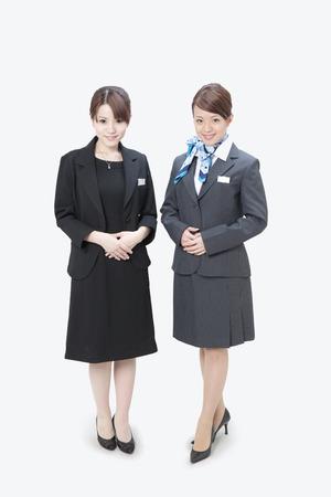 dressed: Two women dressed in school uniform