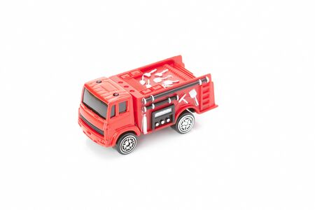 accident fire truck: Model of fire truck Stock Photo