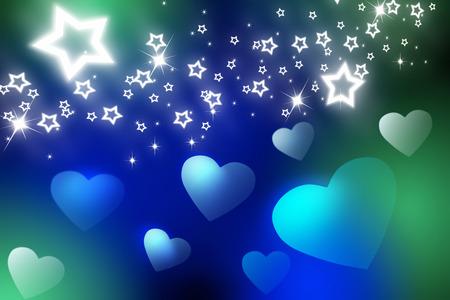 fondness: Heart and stars