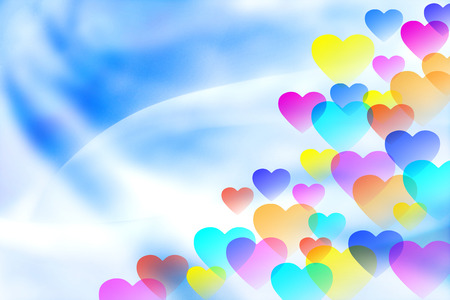 colorful heart: Colorful heart