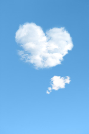 liking: Heartshaped clouds