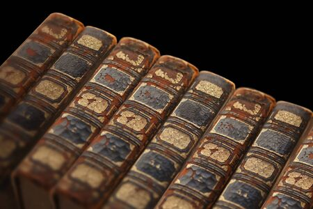 phantasy: Antique books Stock Photo